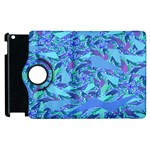 Blue Confetti Storm Apple iPad 3/4 Flip 360 Case Front