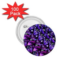 Blue Purple Glass 1 75  Button (100 Pack)