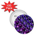 Blue purple Glass 1.75  Button (100 pack) Front