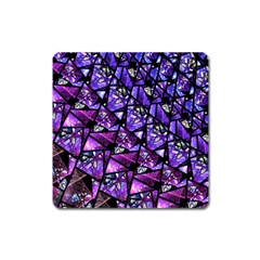 Blue Purple Glass Magnet (square) by KirstenStar