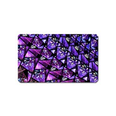 Blue Purple Glass Magnet (name Card) by KirstenStar