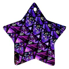Blue Purple Glass Star Ornament (two Sides) by KirstenStar