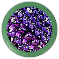 Blue Purple Glass Wall Clock (color)