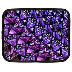 Blue Purple Glass Netbook Sleeve (large) by KirstenStar