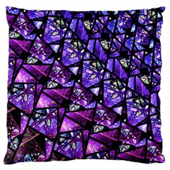 Blue Purple Glass Large Cushion Case (two Sided)