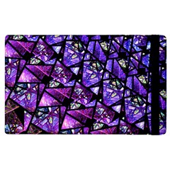 Blue Purple Glass Apple Ipad 2 Flip Case by KirstenStar