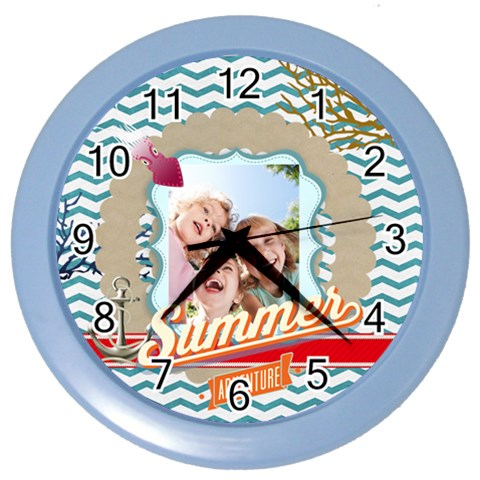 Summer By Summer Time    Color Wall Clock   3t1t72r0jf7g   Www Artscow Com Front