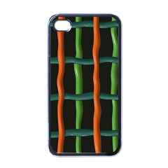 Orange Green Wires Apple Iphone 4 Case (black) by LalyLauraFLM