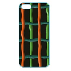 Orange Green Wires Apple Seamless Iphone 5 Case (color) by LalyLauraFLM