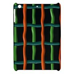 Orange Green Wires Apple Ipad Mini Hardshell Case by LalyLauraFLM