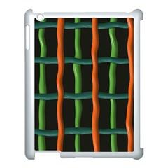 Orange Green Wires Apple Ipad 3/4 Case (white) by LalyLauraFLM