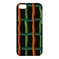 Orange Green Wires Apple Iphone 5c Hardshell Case by LalyLauraFLM