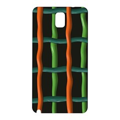 Orange Green Wires Samsung Galaxy Note 3 N9005 Hardshell Back Case by LalyLauraFLM