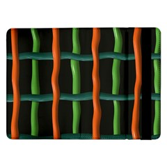 Orange Green Wires	samsung Galaxy Tab Pro 12 2  Flip Case by LalyLauraFLM