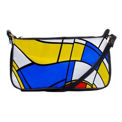 Colorful Distorted Shapes Shoulder Clutch Bag by LalyLauraFLM