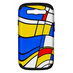 Colorful Distorted Shapes Samsung Galaxy S Iii Hardshell Case (pc+silicone) by LalyLauraFLM