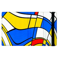 Colorful Distorted Shapes Apple Ipad 3/4 Flip Case by LalyLauraFLM
