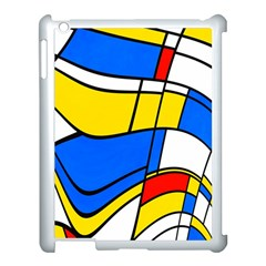 Colorful Distorted Shapes Apple Ipad 3/4 Case (white) by LalyLauraFLM