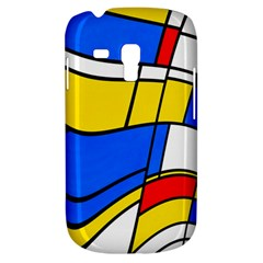 Colorful Distorted Shapes Samsung Galaxy S3 Mini I8190 Hardshell Case by LalyLauraFLM