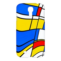Colorful Distorted Shapes Samsung Galaxy S4 I9500/i9505 Hardshell Case by LalyLauraFLM