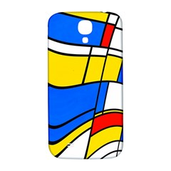 Colorful Distorted Shapes Samsung Galaxy S4 I9500/i9505  Hardshell Back Case by LalyLauraFLM