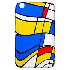 Colorful Distorted Shapes Samsung Galaxy Tab 3 (8 ) T3100 Hardshell Case  by LalyLauraFLM
