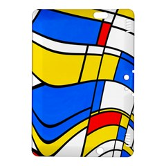 Colorful distorted shapes Kindle Fire HDX 8.9  Hardshell Case by LalyLauraFLM