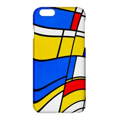 Colorful Distorted Shapes	apple Iphone 6 Plus Hardshell Case by LalyLauraFLM