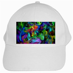 Unicorn Smoke White Baseball Cap by KirstenStar