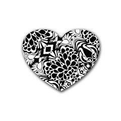 70 s Wallpaper Drink Coasters 4 Pack (heart)
