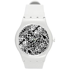 70 s Wallpaper Plastic Sport Watch (medium) by KirstenStar