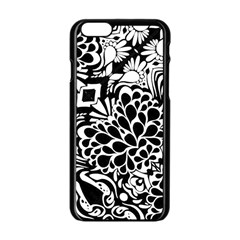 70 s Wallpaper Apple Iphone 6 Black Enamel Case by KirstenStar