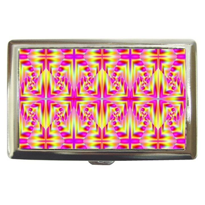 Pink and Yellow Rave Pattern Cigarette Money Case