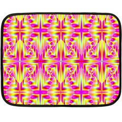 Pink And Yellow Rave Pattern Mini Fleece Blanket (two Sided) by KirstenStar