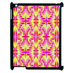 Pink And Yellow Rave Pattern Apple Ipad 2 Case (black) by KirstenStar