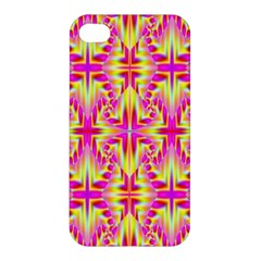 Pink And Yellow Rave Pattern Apple Iphone 4/4s Hardshell Case by KirstenStar