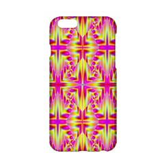 Pink And Yellow Rave Pattern Apple Iphone 6 Hardshell Case by KirstenStar