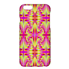 Pink And Yellow Rave Pattern Apple Iphone 6 Plus Hardshell Case by KirstenStar