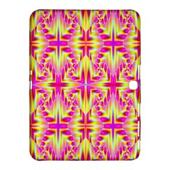 Pink And Yellow Rave Pattern Samsung Galaxy Tab 4 (10 1 ) Hardshell Case  by KirstenStar