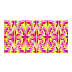 Pink And Yellow Rave Pattern Satin Wrap by KirstenStar