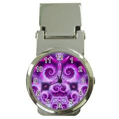 Purple Ecstasy Fractal Money Clip Watch by KirstenStar