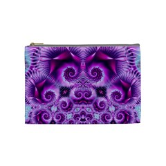 Purple Ecstasy Fractal Cosmetic Bag (medium) by KirstenStar