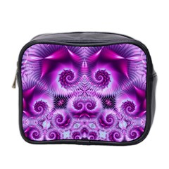 Purple Ecstasy Fractal Mini Toiletries Bag (two Sides) by KirstenStar