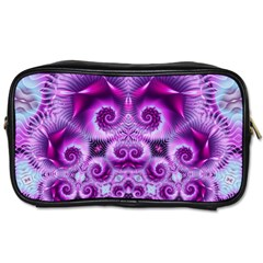 Purple Ecstasy Fractal Toiletries Bag (one Side) by KirstenStar