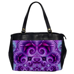 Purple Ecstasy Fractal Oversize Office Handbag by KirstenStar