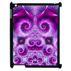 Purple Ecstasy Fractal Apple Ipad 2 Case (black) by KirstenStar