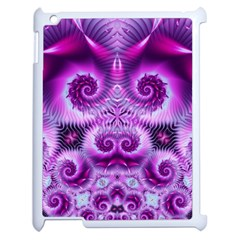 Purple Ecstasy Fractal Apple Ipad 2 Case (white) by KirstenStar
