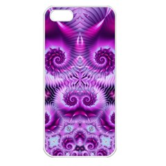 Purple Ecstasy Fractal Apple Iphone 5 Seamless Case (white) by KirstenStar