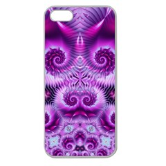 Purple Ecstasy Fractal Apple Seamless Iphone 5 Case (clear) by KirstenStar
