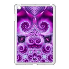 Purple Ecstasy Fractal Apple Ipad Mini Case (white) by KirstenStar